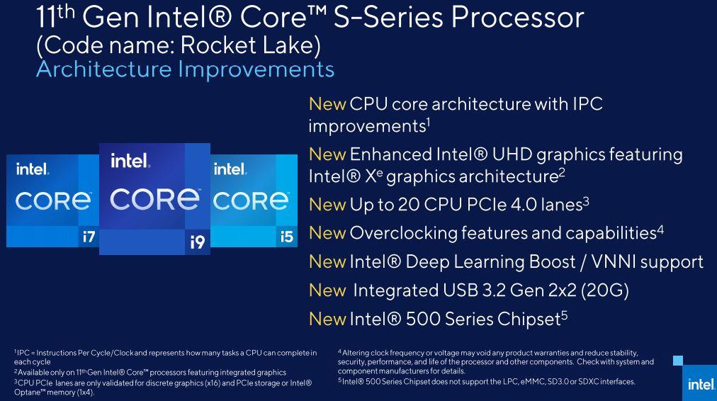 Intel 11th gen rocket lake