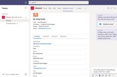 Microsoft Teams Salesforce integration