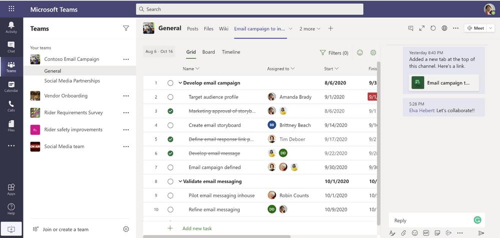 Microsoft Teams Project app