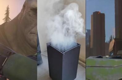 Smoking Xbox Series X overheating