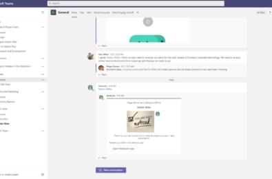 Microsoft Teams Starbucks App