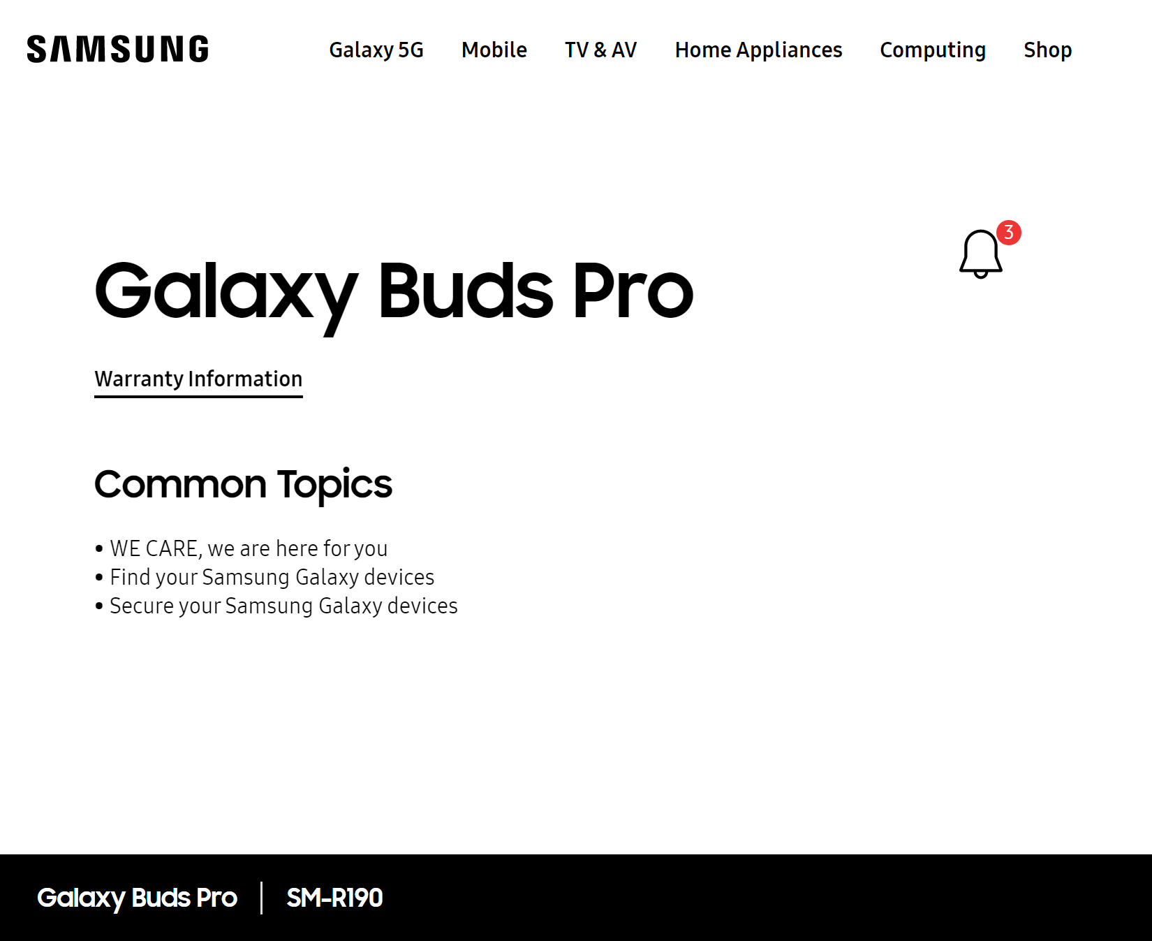 samsung galaxy buds pro support