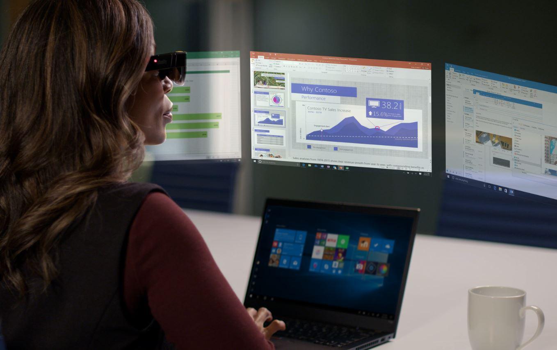 Lenovo ThinkReality A3 Glass virtual monitors