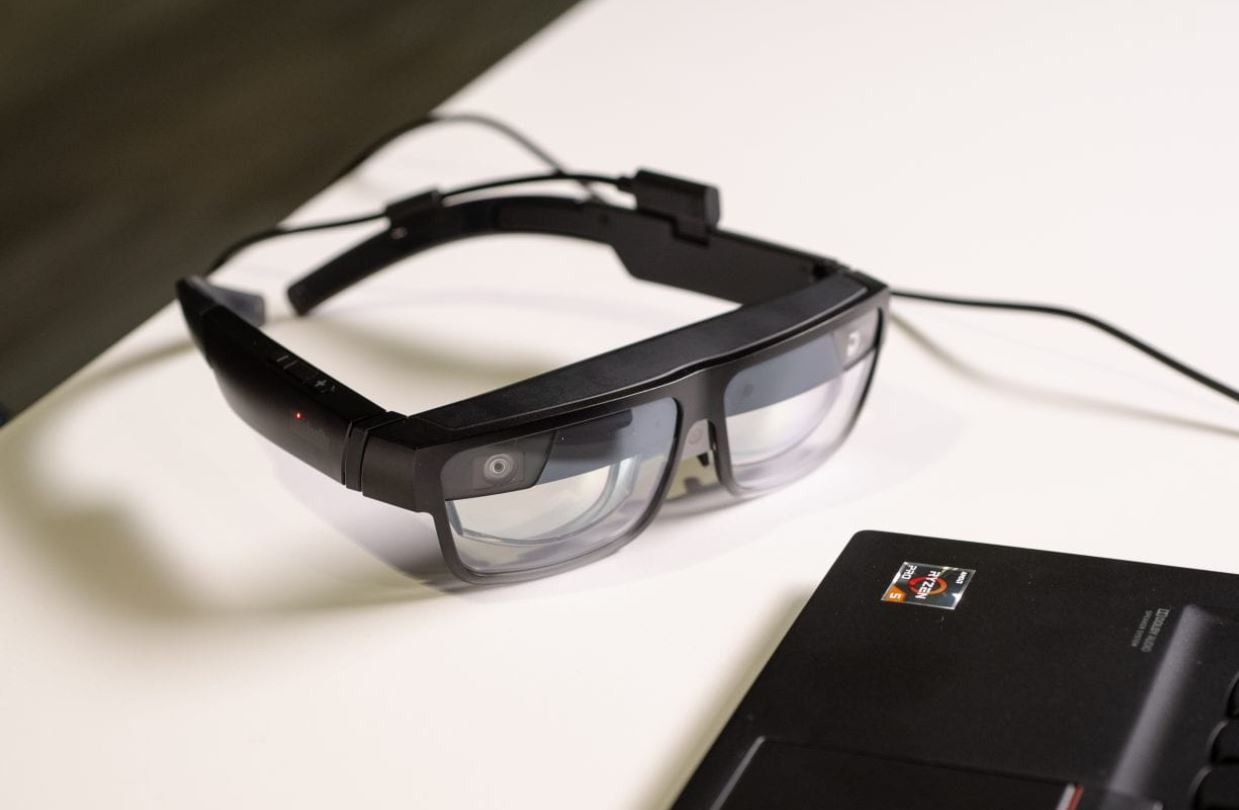 Lenovo's ThinkReality A3 smart glasses can display up to five virtual screens
