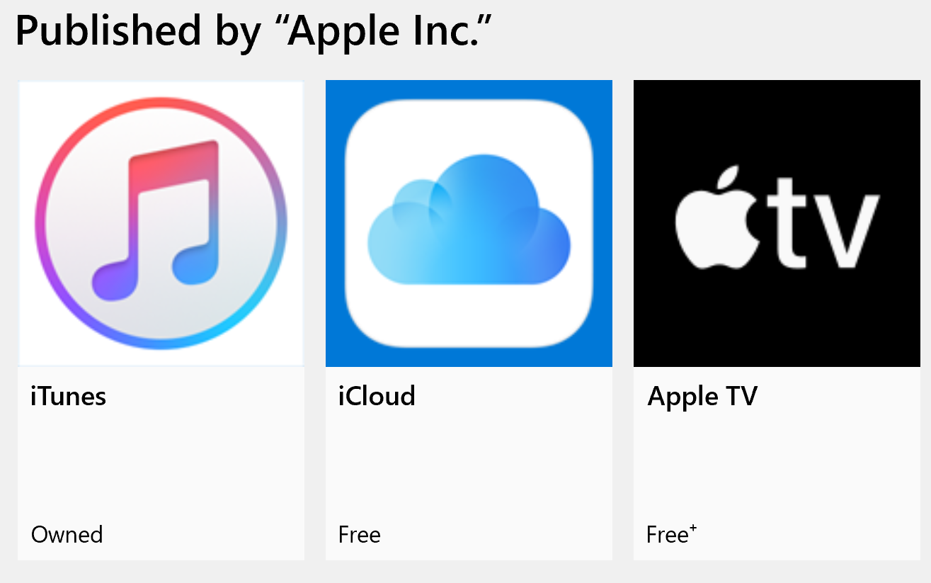 apple apps microsoft store
