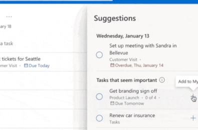 microsoft to do suggestions