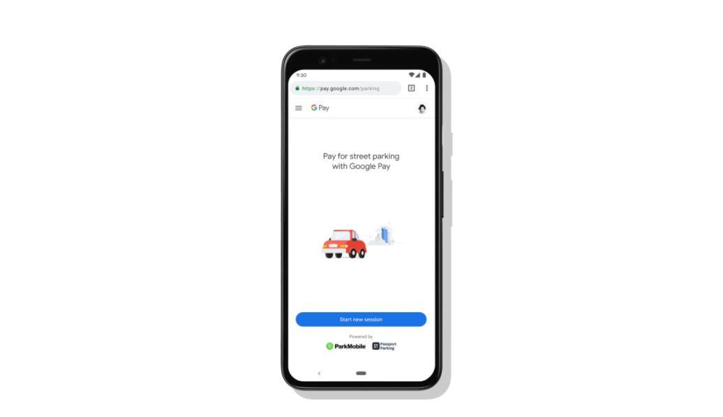 Google Maps parking pay