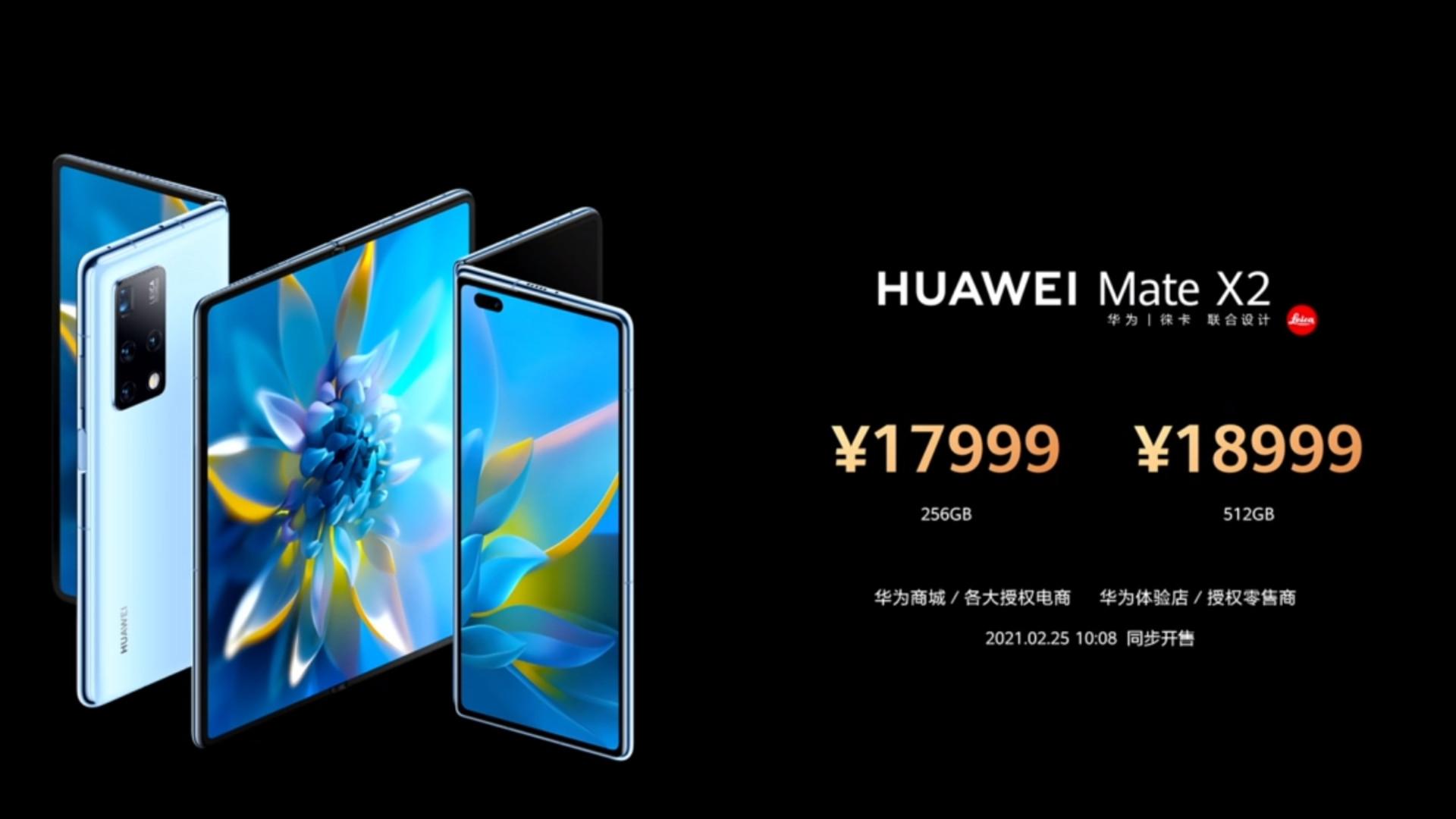 Mate X2 price