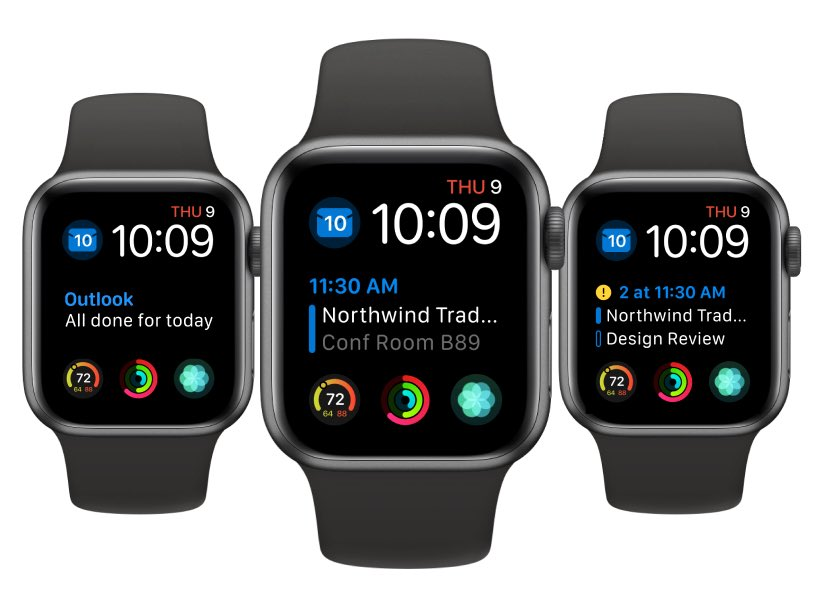 Microsoft Outlook Apple Watch Complication