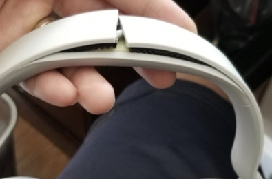broken surface headphones