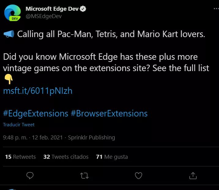Microsoft, Edge Store'da çalınan oyun ROM'larını tanıtıyor