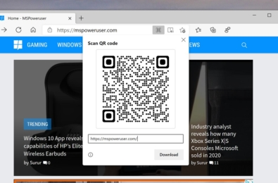 qr code sharing edge canary