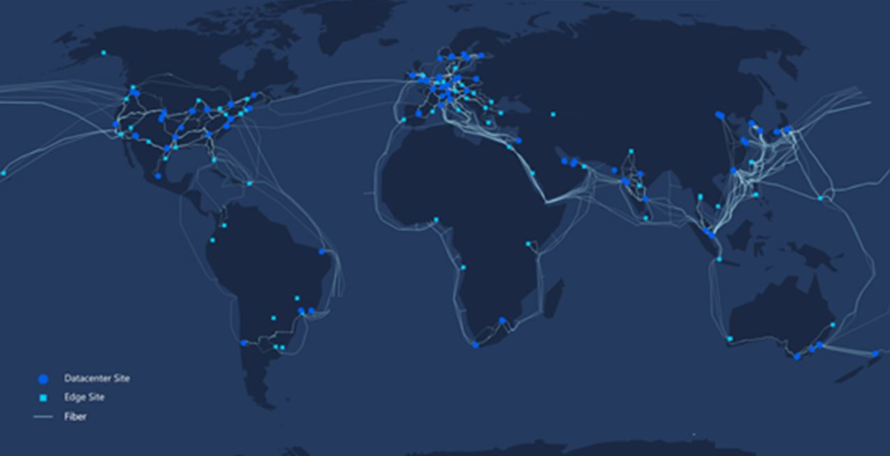 Microsoft Azure network map