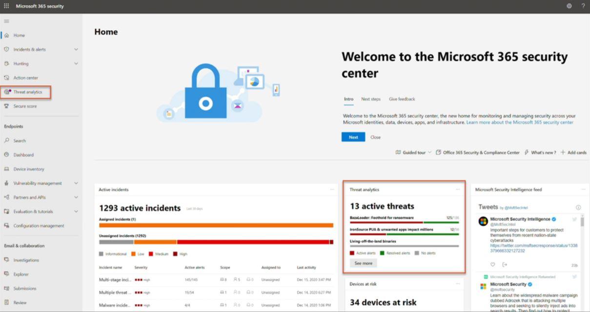 Microsoft Threat Analytics