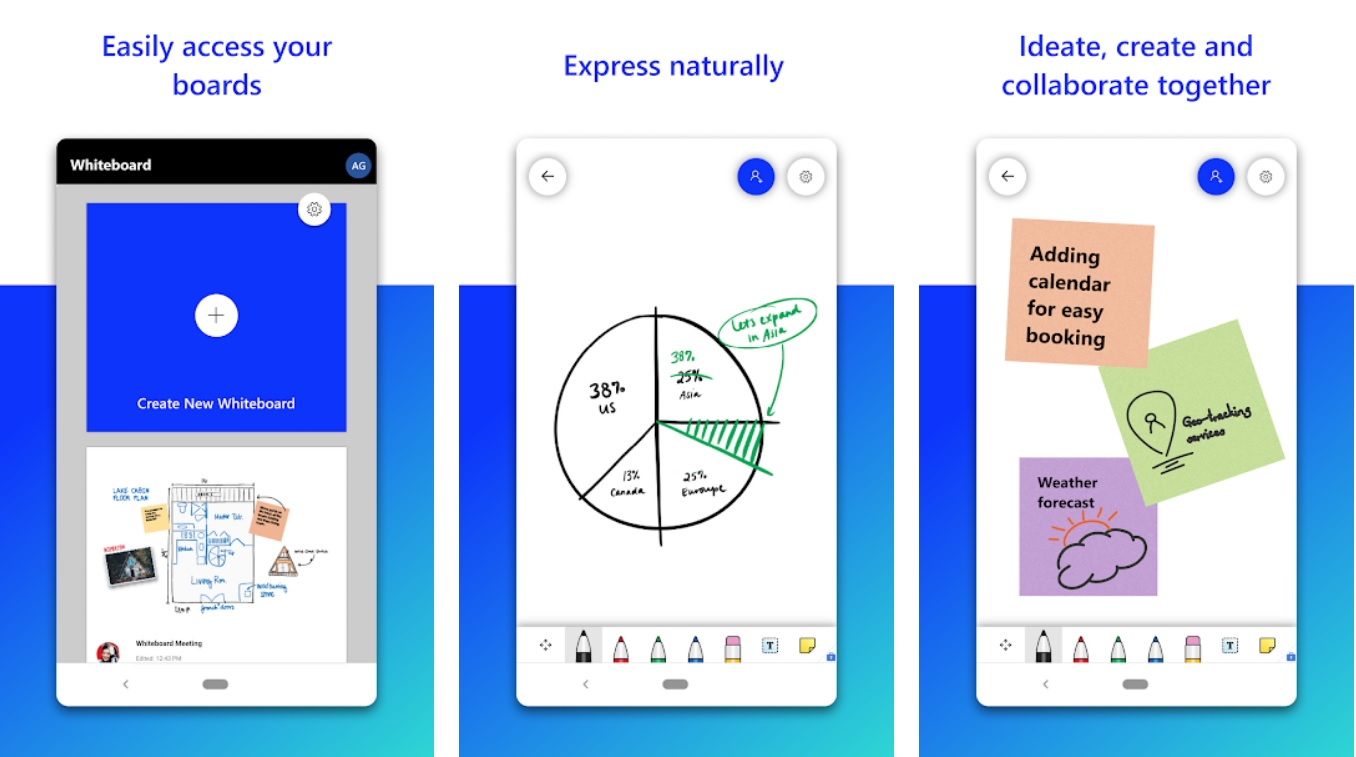 Microsoft Whiteboard for android