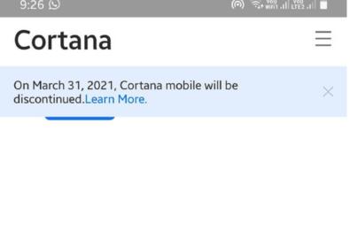 cortana say goodbye