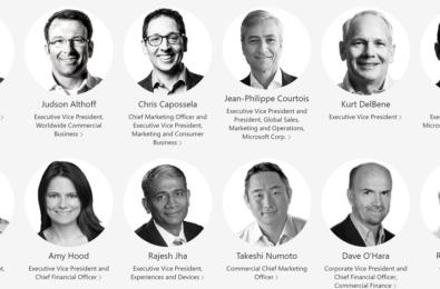microsoft senior leadership team 2021