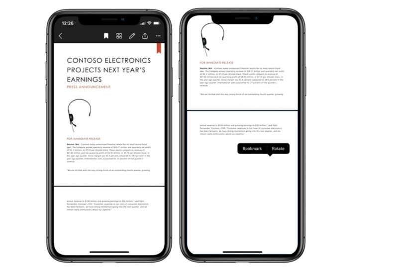 onedrive ios pdf reader