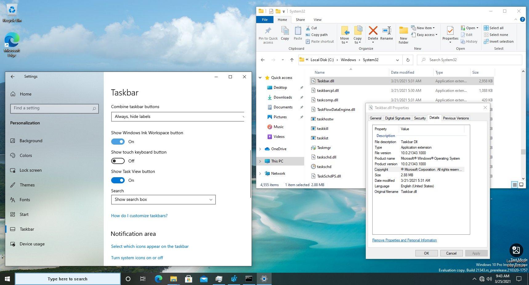 Windows 10 is getting an updated Taskbar.dll - MSPoweruser
