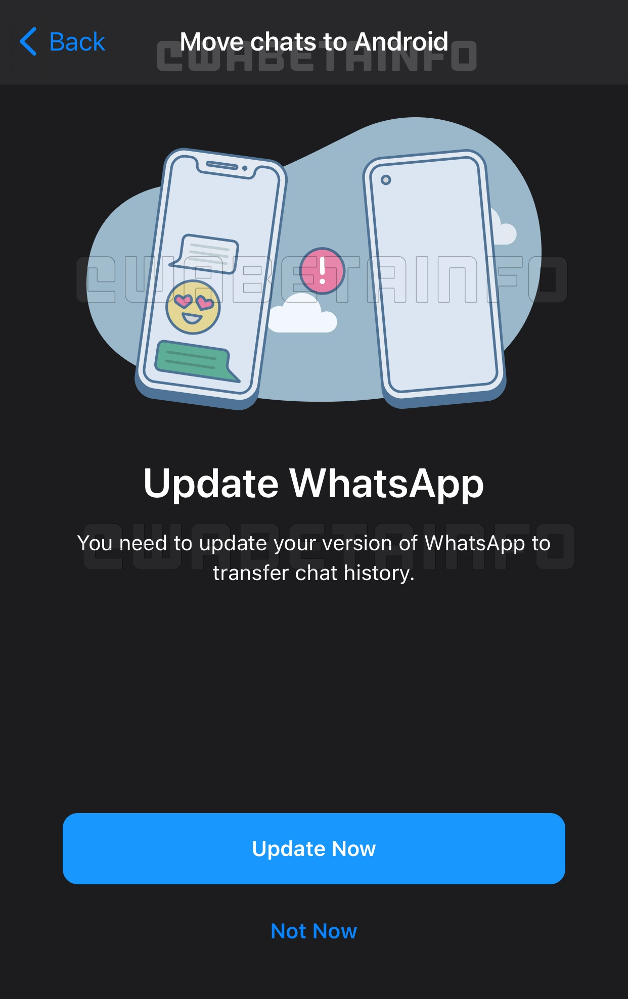 CHAT MIGRATION IOS
