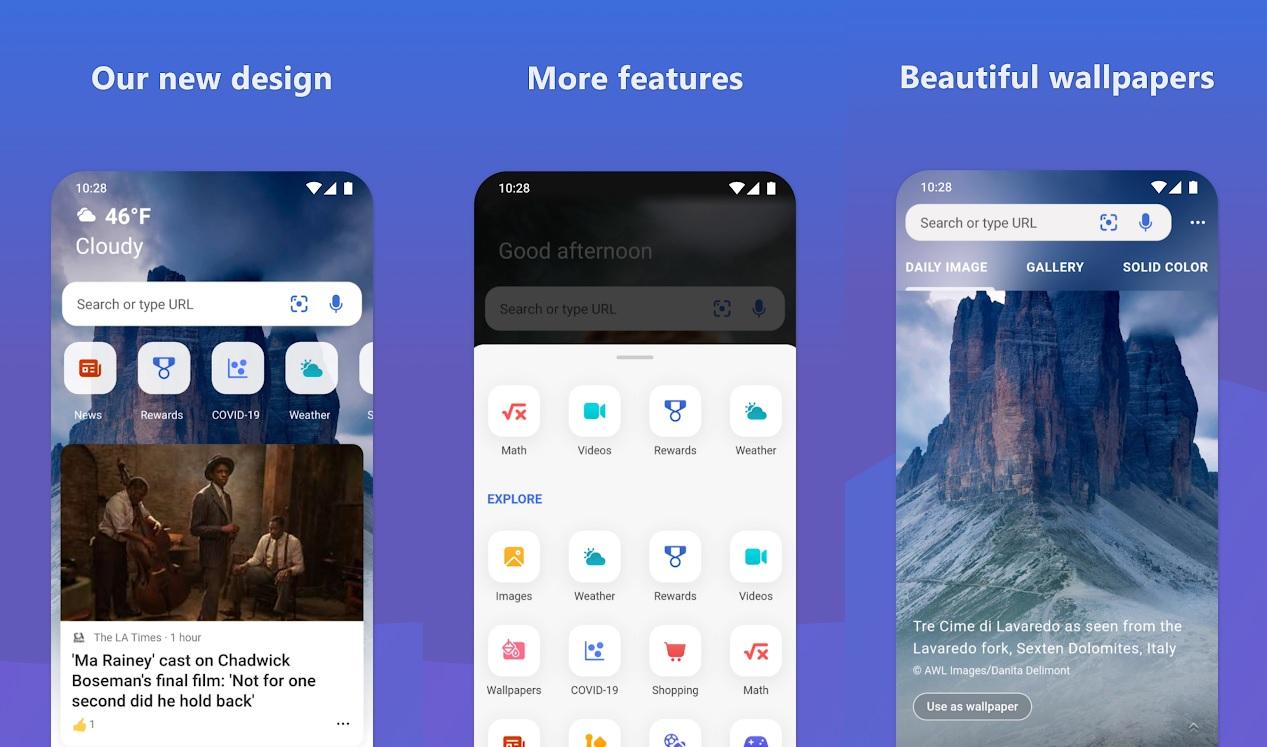 Microsoft Bing Android app