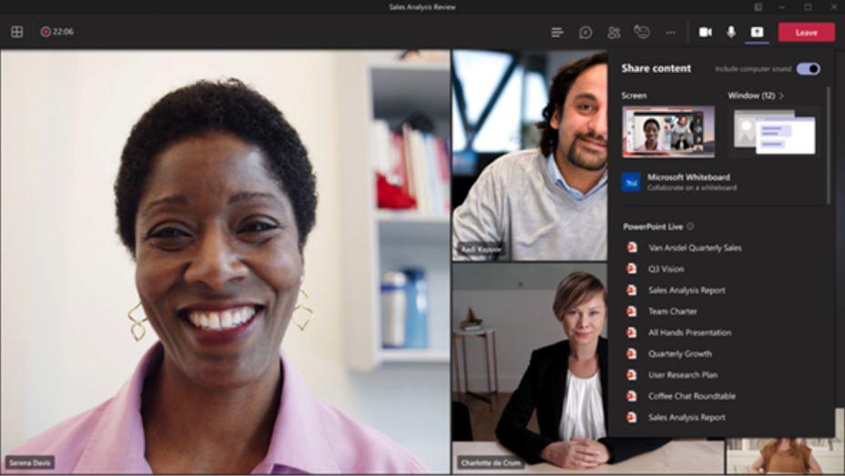 Microsoft Teams Share Tray