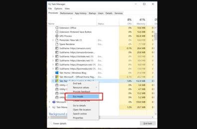 Microsoft Windows 10 Task manager