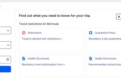 covid-19 travel advisory tool