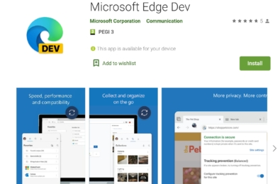 edge dev for android