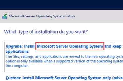 microsoft server operating system