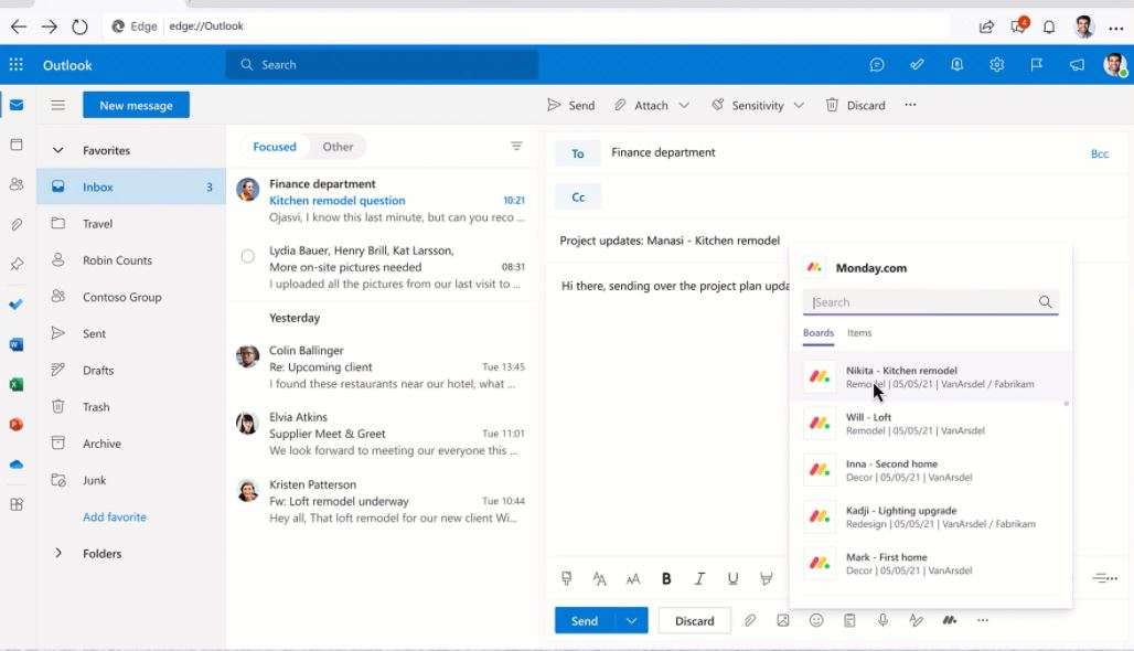 Microsoft Message Extensions Outlook