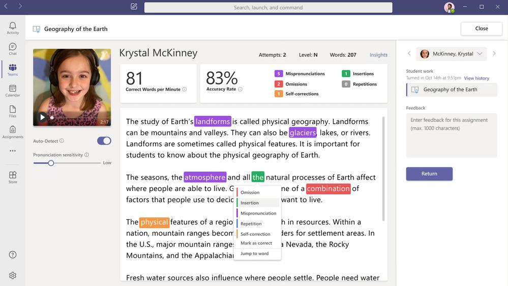 Microsoft Reading Progress
