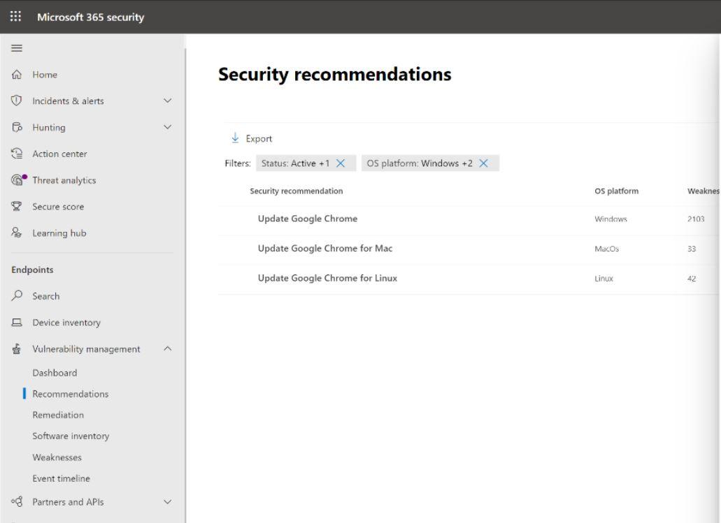 Microsoft Thread and Vulnerability Management