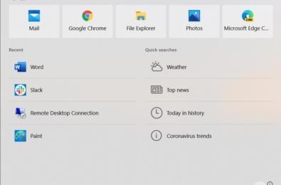 Microsoft Windows search bar
