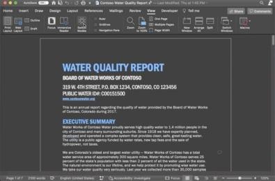 Microsoft Word for Mac Dark Mode