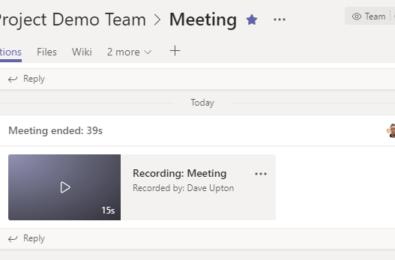 Teams Channel Meetings