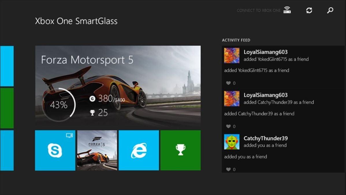 Xbox One SmartGlass app