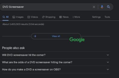 dvd screensaver google easter egg