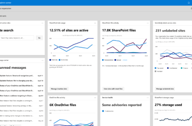 sharepoint admin page