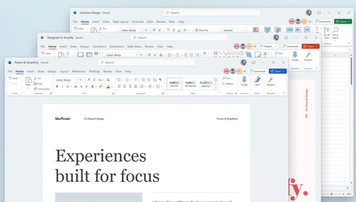 Microsoft Office apps refresh