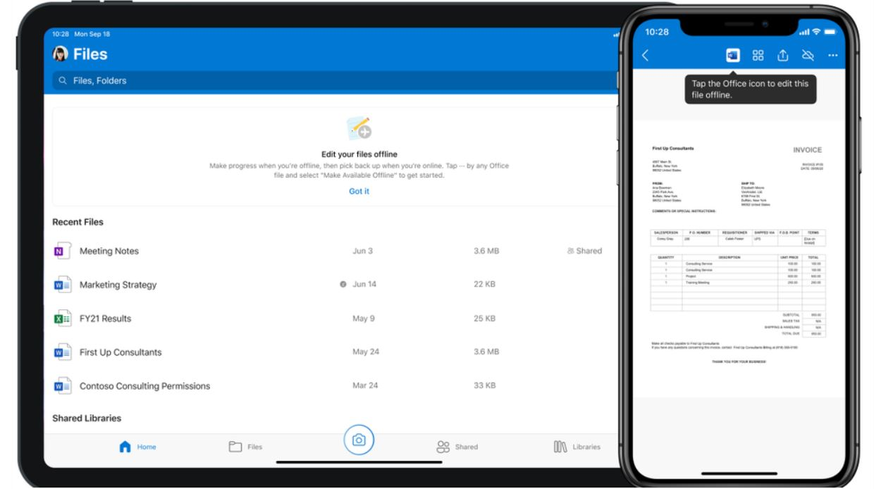 Microsoft OneDrive iOS