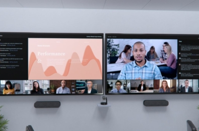 Microsoft Teams Rooms Front Row Room layout