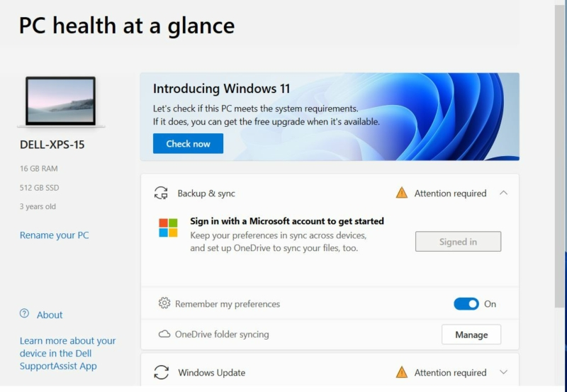 Microsoft Windows 11 PC Health Check