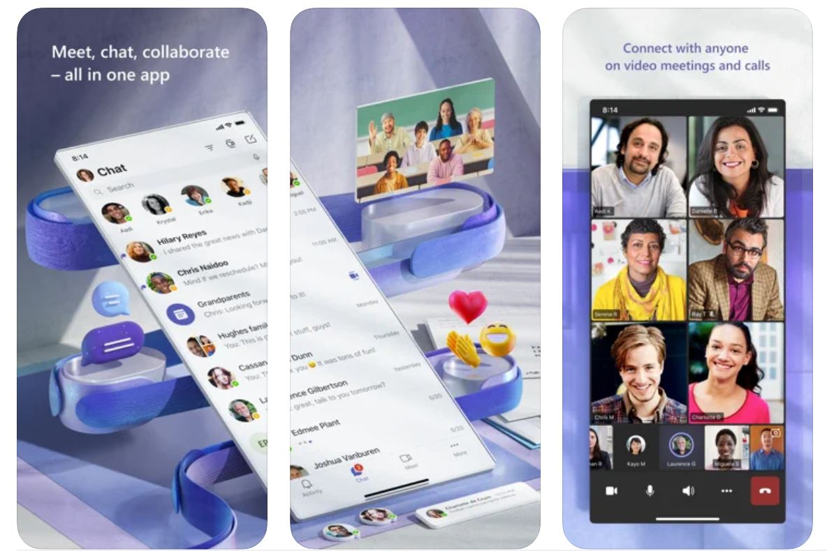 Microsoft teams iOS Android
