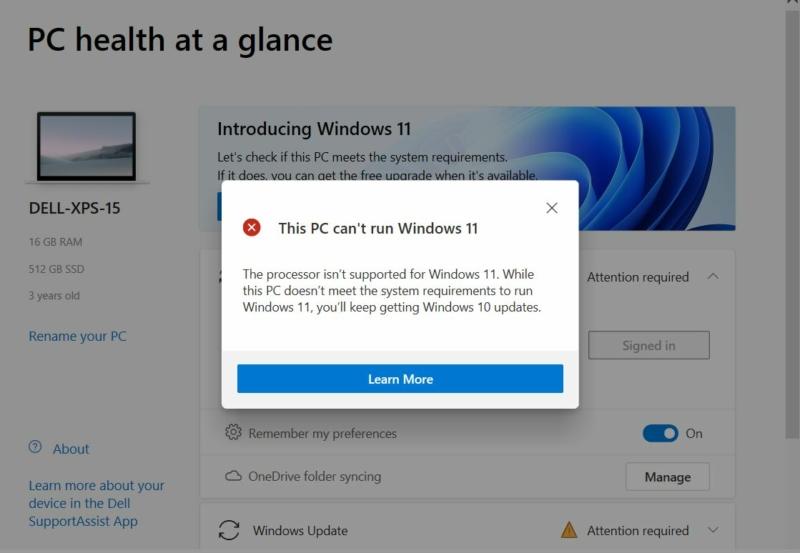 Microsoft Windows PC Health Checkup
