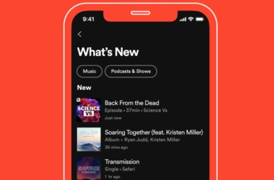 Spotify What's New Feed