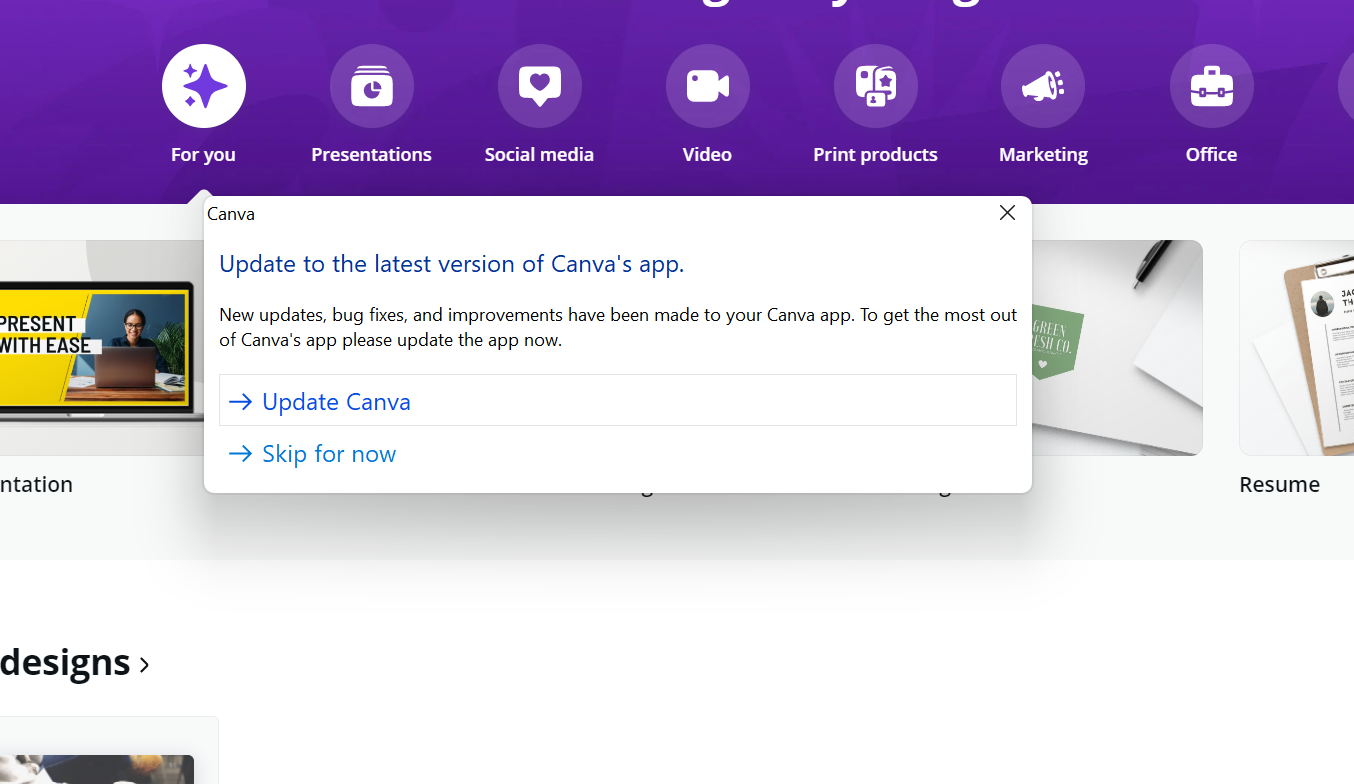 Canva for Windows 11