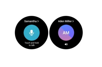 Samsung Galaxy Watch WalkieTalkie app