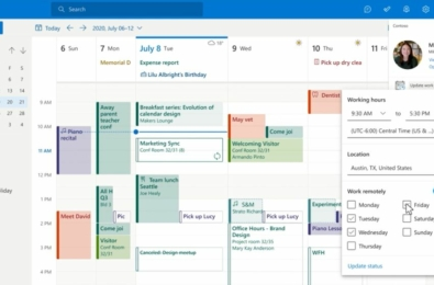 Microsoft Outlook Working Hours