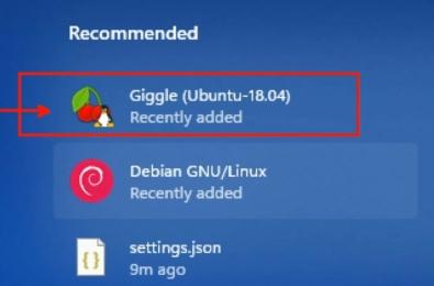 Linux app on windows